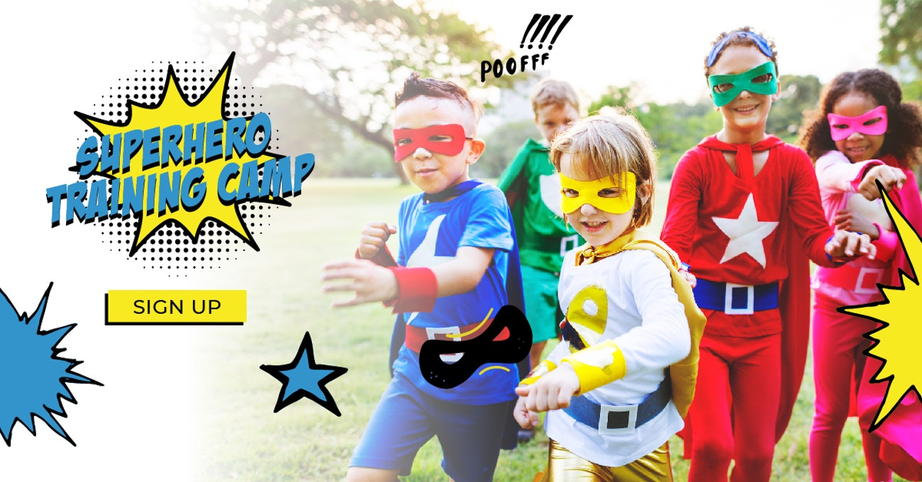 Superhero Training One Day Camp Ages 4 - 12