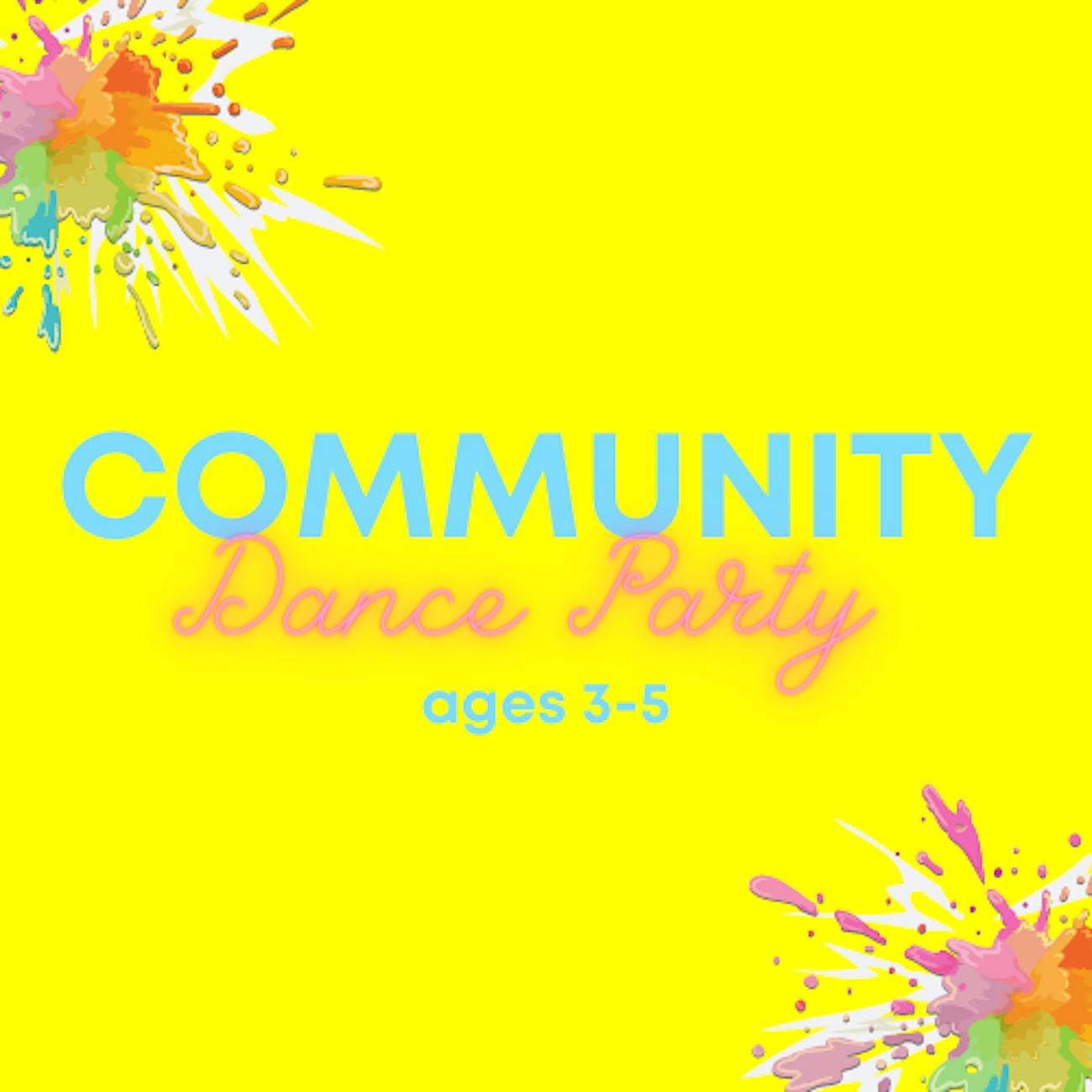 Community Dance Party ages 3-5