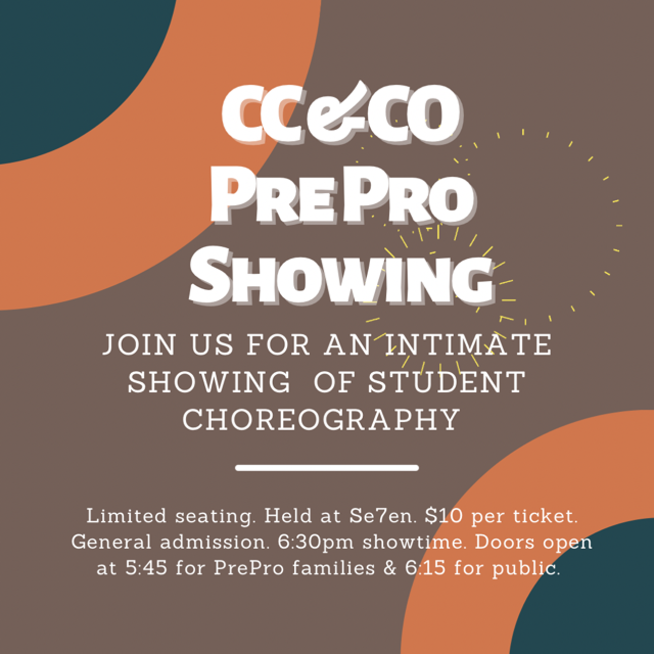 🎟️ TICKETS 🎟️     Pre Pro SHOWING